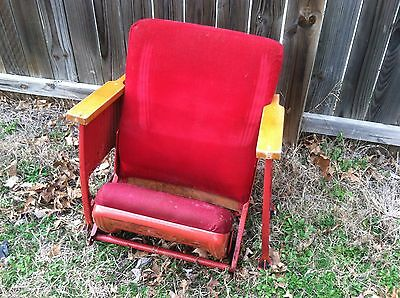 Many Used Vintage Rocking Waiting Room / Theater / Movie Chair Wood Back Seats