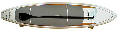 """On The Wall Clear Acrylic Board  Rack Sup Stand Up Paddle 10"""" Fin Holds 100 Lbs"""
