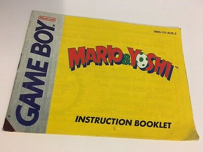 Mario & Yoshi  Manual Instruction Booklet  Nintendo Gameboy Original