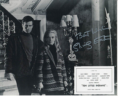 Shirley Eaton SIGNED photo - J1139 - Ten Little Indians