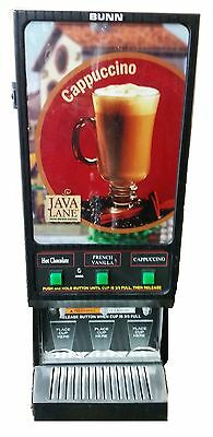 Bunn FMD-3 Cappuccino Dispenser-3 Flavor Powdered Mix Machine 120V