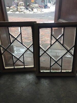 """Sg 1204 2 Available Price To Each All Beveled Glass Window 19.5 X 15"""""""