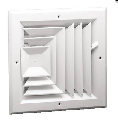 Hart & Cooley Ceiling diffuser A503MS 8x8 3 way shutter type