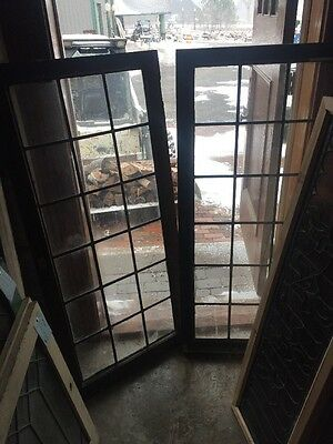 Sg 1444 Two Available Priced Each Leaded Glass  Window 24.25 X 53