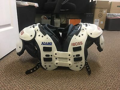 """Adams """"the Boss"""" Football Adult Shoulder Pad Size Xl 20-21 In (Ra53-1)"""