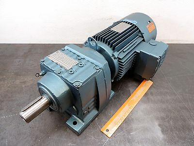 SEW-EURODRIVE ELECTRIC GEAR MOTOR 3 HP 3-PH 266/460 60 hz  102 RPM 16.79:1