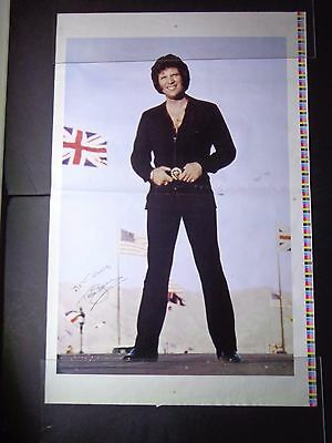 """*  TOM JONES-PHOTO SHOOT TEST POSTERS-2 STYLES 1970'S 23X36""""ROLLED vintage"""