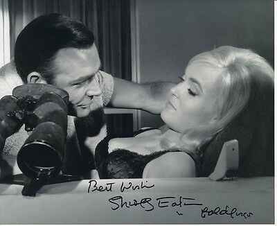 Shirley Eaton SIGNED photo - J1092 - James Bond - Goldfinger
