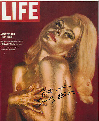 Shirley Eaton SIGNED photo - J1117 - Life Magazine - James Bond - Goldfinger