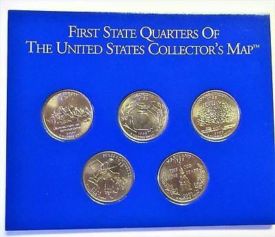 First State Quarters of the United States Collectors Map - 1999 set