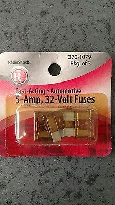 5 amp blade type ATC fuses for auto, new in package (3)
