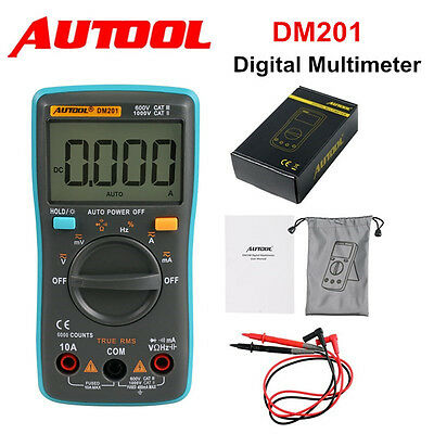 DM201 Autorang Digital Multimeter 6000 Counts AC/DC Ammeter Voltmeter Auto Meter