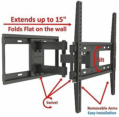 Full Motion Tilt TV Wall Mount Fits Most 32 - 55 Inch LED LCD Up to VESA 400X400