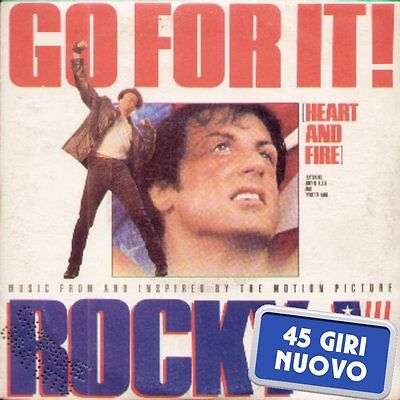 """Music From Rocky V """" Go For It! + Heart And Fire """" 45 Giri Nuovo Emi 1990 Promo"""