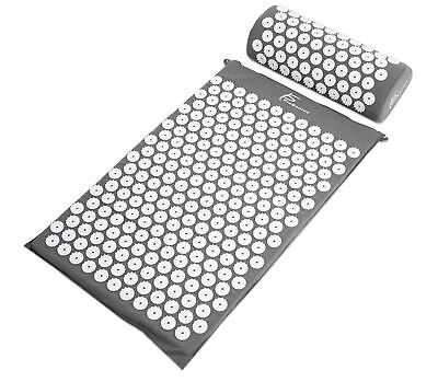 ProSource Acupressure Mat and Pillow Set for Back/Neck Pain Relief and Muscle