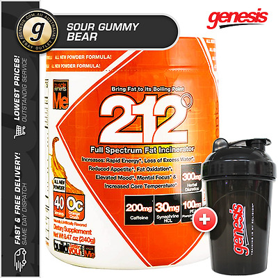 Muscle Elements 212 *40 Serves SOUR GUMMY BEAR* Thermo Fat Burner + FREE Shaker!