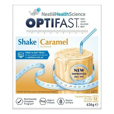 OPTIFAST VLCD Caramel Flavour Protein Shake 53g x 12 Packs