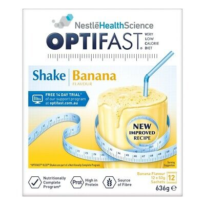 OPTIFAST VLCD Banana Flavour Protein Shake 53g x 12 Packs