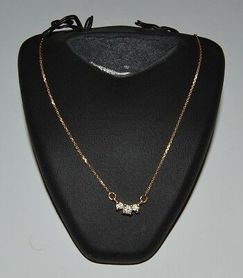 14K Yellow Gold Chain Necklace  and 0.35 diamonds  H SI1