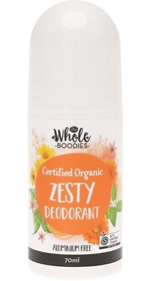 The Whole Boodies Roll-On Deodorant Zesty - 70ml