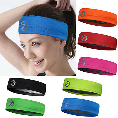 Sports Soft Sweatband Headband Stretch Hair Band Fr Exercise Fitness Gym Running