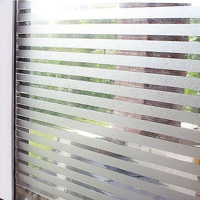 45cm x 3m STRIPE Static Glueless Reusable Removable Frosted Window Glass Film