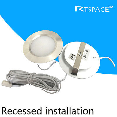 Recessed installation DC 12v 3W LED Puck/Cabinet Light,LED spotlight.