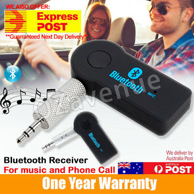 Wireless Bluetooth 3.5mm AUX Audio Stereo Music Home Car Receiver Adapter V 3.0