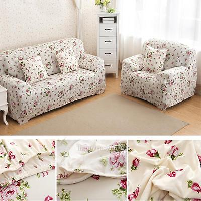 Sectional Elastic Furniture Protector Cover Slipcover Loveseat 2/3/4 Seater Sofa