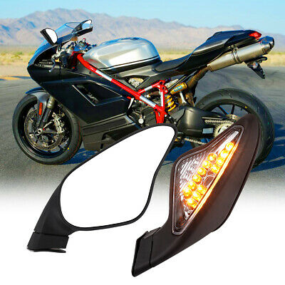 Turn Signal Rearview Mirrors for DUCATI 848 1098 1098S 1098R 1198S 1198R New