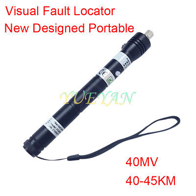 40mW 40~45KM Handheld Visual Fault Locator VFL Red  Light Fiber Optic Cable test