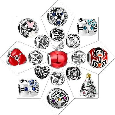Hollow European Charms Bead Fashion Jewelry Woman Gift Fit 925 Silver Bracelets