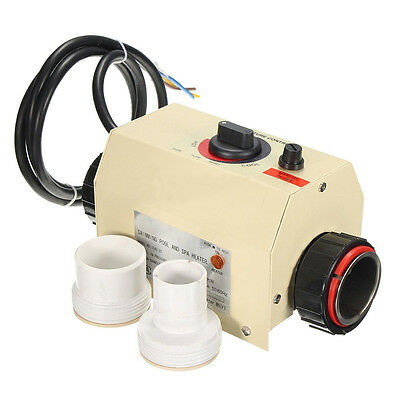 3KW 220V Swimming Pool & Bath SPA Hot Tub Electric Water Heater Thermostat