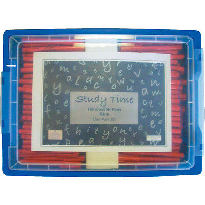 Study Time Handwriting Pen - Blue (C Lass Pack 200)