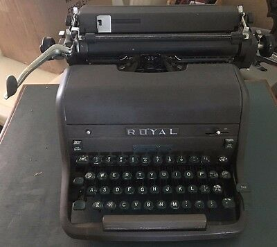 Vintage, original and rare 1954 Royal HH typewriter 42 keys, good condition