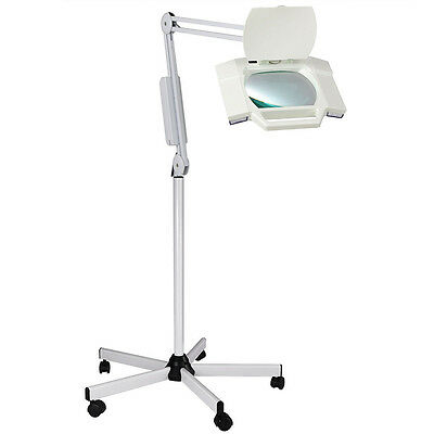 Rolling Adjustable 5X Diopter Magnifying Lamp Salon Facial Jewelry Magnifier