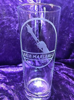 Field Marshall Logo Etched Pint Glass