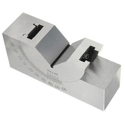 75x25x32mm Toolmaker Precision Micro Adjustable Angle V Block Milling 0°- 60°