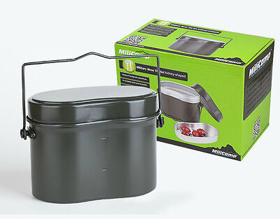 Camping Picnic Army Military Mess Kit Lunch Box Canteen Kettle Pot Food Cup Bowl