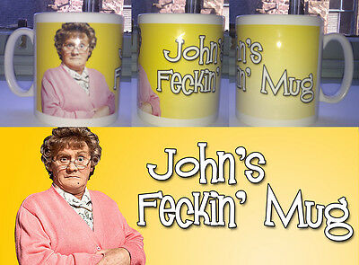 Mrs Brown'S Boys Personalised Feckin Mug - Any Name -  Rude Funny Gift Cup