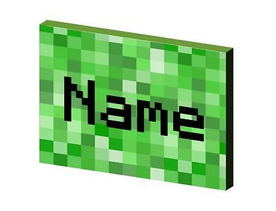 PIXELS PERSONALISED CANVAS PICTURE - 2 SIZES - kids gaming matches minecraft