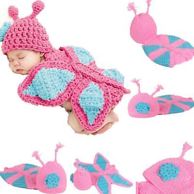 Baby Girl Knit Infant Newborn Photo Crochet Costume Photography Prop Outfit