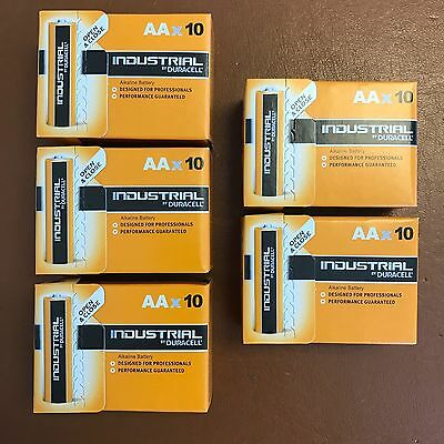 50 x Duracell AA Industrial Alkaline Battery 1.5V MN1500 LR6 MIGNON LONGEST EXP