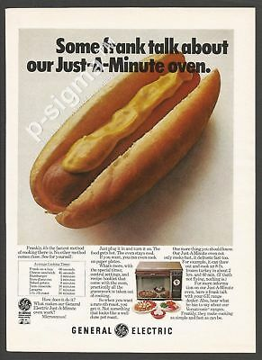 GENERAL ELECTRIC microwave oven 1971 Vintage Print Ad # 178 5