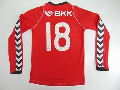 2010 2015 Hummel Kjokkelvik IL Norway home shirt soccer rare long sleeve YL #18