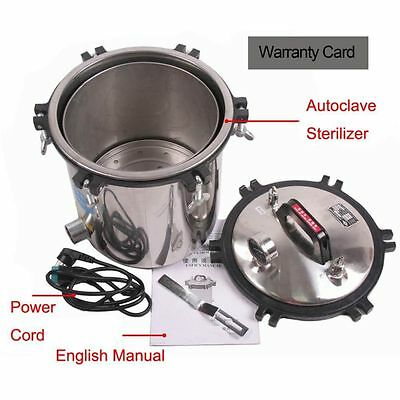 18L Stainless Steel Steam Autoclave Sterilizer Medical Exquisite Craftsmanship