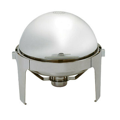 Update 6.5Qt Stainless Steel Roll-Top Round Chafer - Ec-14N