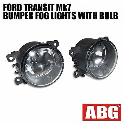 For Ford Transit Fog Light Lamp with H11 Bulb Mk7 2006 to 2013 Front Bumper Set