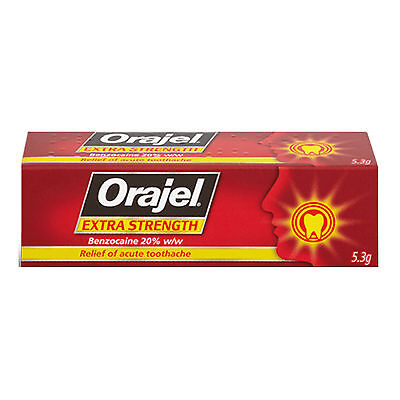 Orajel Extra Strength Dental Gel for Toothache 5.3g - Multi Quantity
