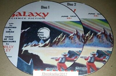 Galaxy Magazines Over 300 Vintage retro science fiction reading on 2 disc in PDF